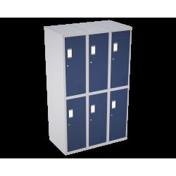 Bloque de 3 lockers de 2 puertas