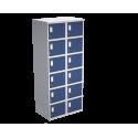 Lockers metalico  de 12 puertas, modelo de 6 puertas